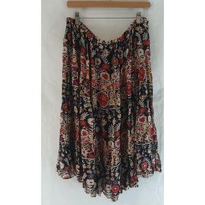 JL STUDIO Boho Floral Tiered Full Skirt 2X